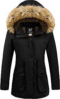 Women's Winter Coats Hooded Puffer Jackets Fleece Lined...
