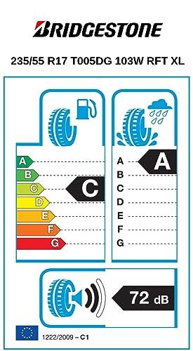 Bridgestone Turanza T005 Driveguard 235 55 R17 103y Xl C A 72 Summer Tyres With Rft Cars Suv Auto