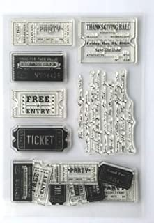 MaGuo Vintage Ticket Clear Stamps for DIY Scrapbooking and Card Making Decoration