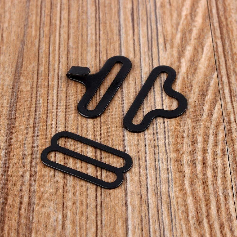 Vobor Metal Bow Tie Hardware Sets - Necktie Hook Bow Tie,Adjustable Bow Tie Hardware Clips Hook Fastener for Necktie Strap Hook Fastener (50Sets)