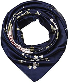 "corciova 35"" Large Women's Satin Square Silk Feeling Hair Scarf Wrap Headscarf"