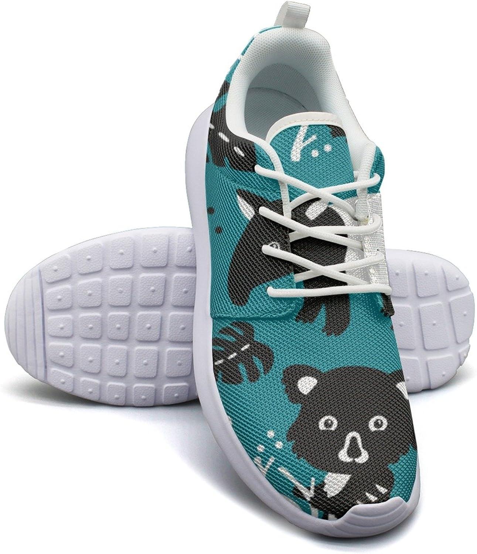 ERSER Rainforest Animals Cute Koala Toucan Running Tennis shoes for Women