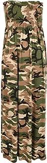 Plus Size Women's Printed Bandeau Maxi Dress - Camouflage - US 12-14 (UK 16-18)