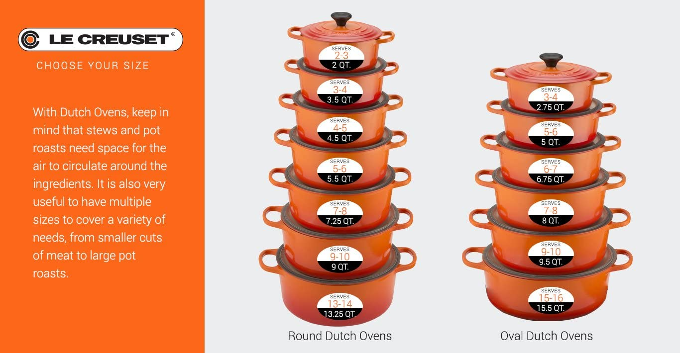Dutch Dune Le Creuset Signature Enameled Cast-Iron 4-1//2-Quart Round French Oven