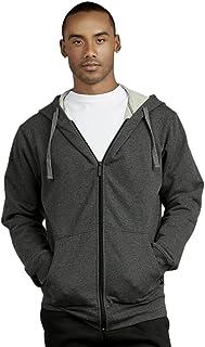 Hoodie Jacket - Men's Terry Fabric Zip Up Heavy Weight Hoodie Jacket
