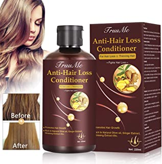 Hair Regrowth Conditioner, Hair Treatment Mask, Hair Thickening Conditioner, Hair Mask for Hair Growth, Anti-Hair Loss Conditioner, Natural Fine Hair Volumizing Deep Treatment, Suitable for Dry & Dama