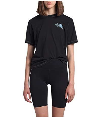 The North Face Dome Climb Short Sleeve Tee (TNF Black/Angel Falls Blue) Women