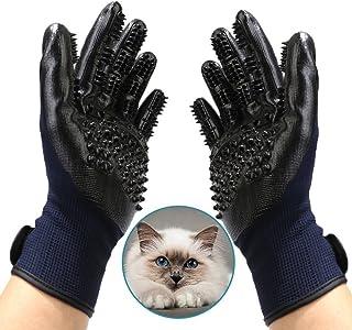 Bestbuy Pet Grooming Gloves - Improved Five Finger Design Rubber Glove Gentle De-Shedding Brushes for Cats, Dogs & Horses...