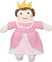 Zubels Baby Girls' Milly The Princess Hand-Knit Plush Toy, All-Natural Fibers, Eco-Friendly, 12-Inch