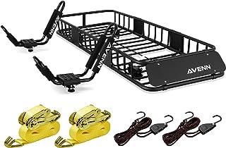 "$219 » Sponsored Ad - AVENN 64"" x 23"" x 6"" Cargo Basket Roof Rack & J-Bar Rack HD Kayak Carrier Canoe Boat Surf Ski Roof Top Moun..."