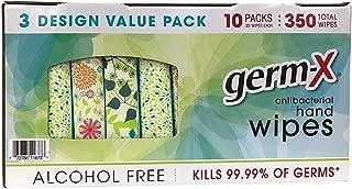Germ-X Antibacterial Hand Wipes Designer Pack - 10 packs - 350 Total
