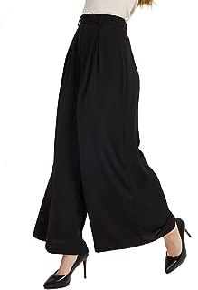 Women High Waist Casual Wide Leg Long Palazzo Pants Trousers