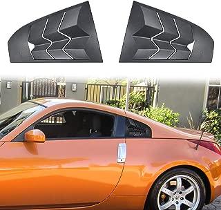 Danti 2PCS Matte Black GT Lambo Style Quarter Side Window Scoop Louvers ABS Window Visor Cover Sun Rain Shade Vent for Nissan 350Z 2003-2008