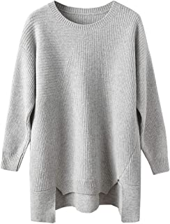 Zhili Women's 100% Merino Wool Scoop-Neck Plus Top with...