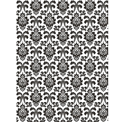 Creative Converting Black and White Damask Photo Backdrop, 4.5ft x 6ft