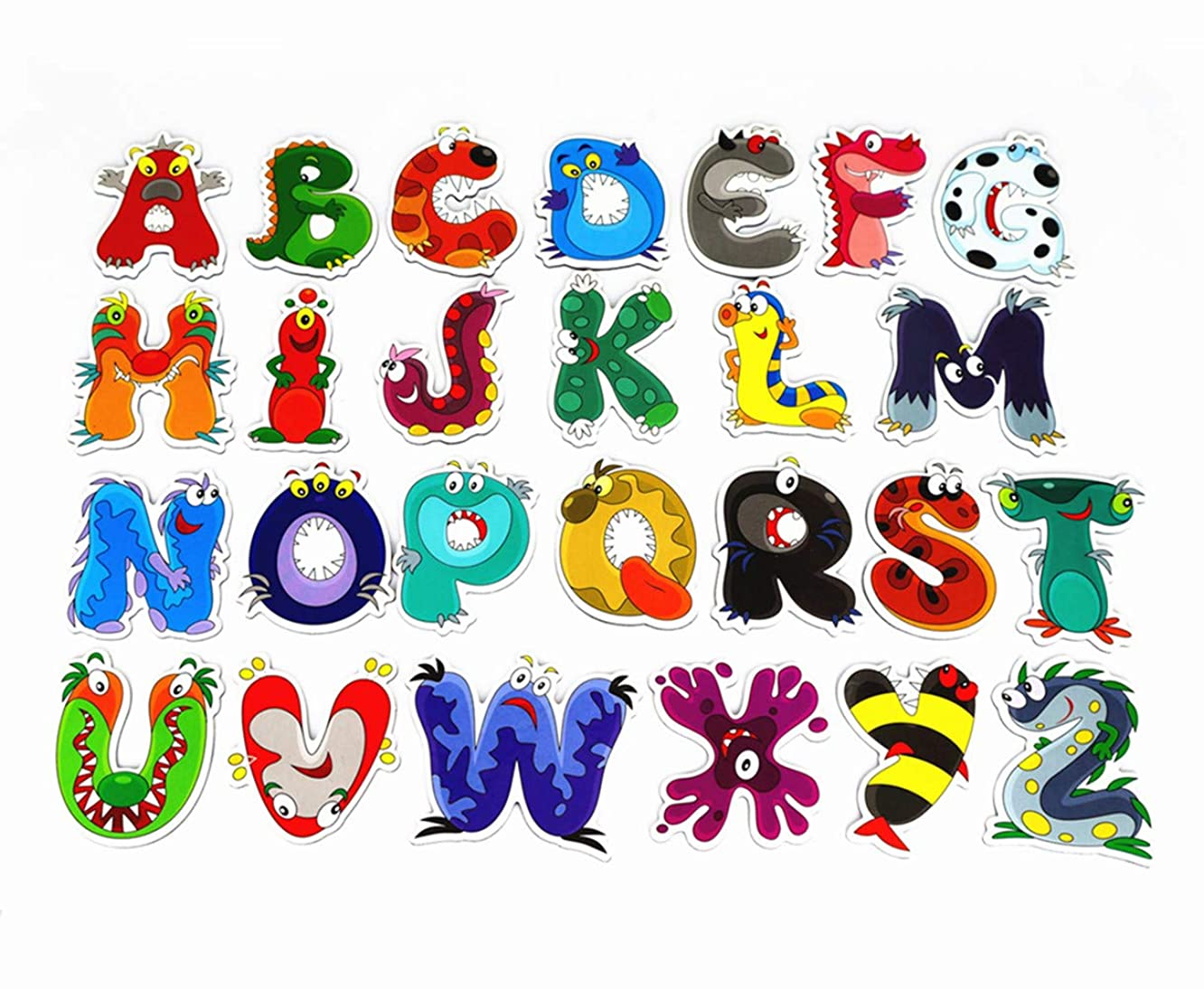 Soqool 26 Magnetic Letters Refrigerator Magnets for Kids Gift, Cute Animal Alphabet Magnets for Preschool Kids Leaning/Spelling, Home Decor(Animal)