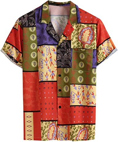 ACEBABY Camisa Hawaiana Hombre Camisas Casual Playa Camisa ...
