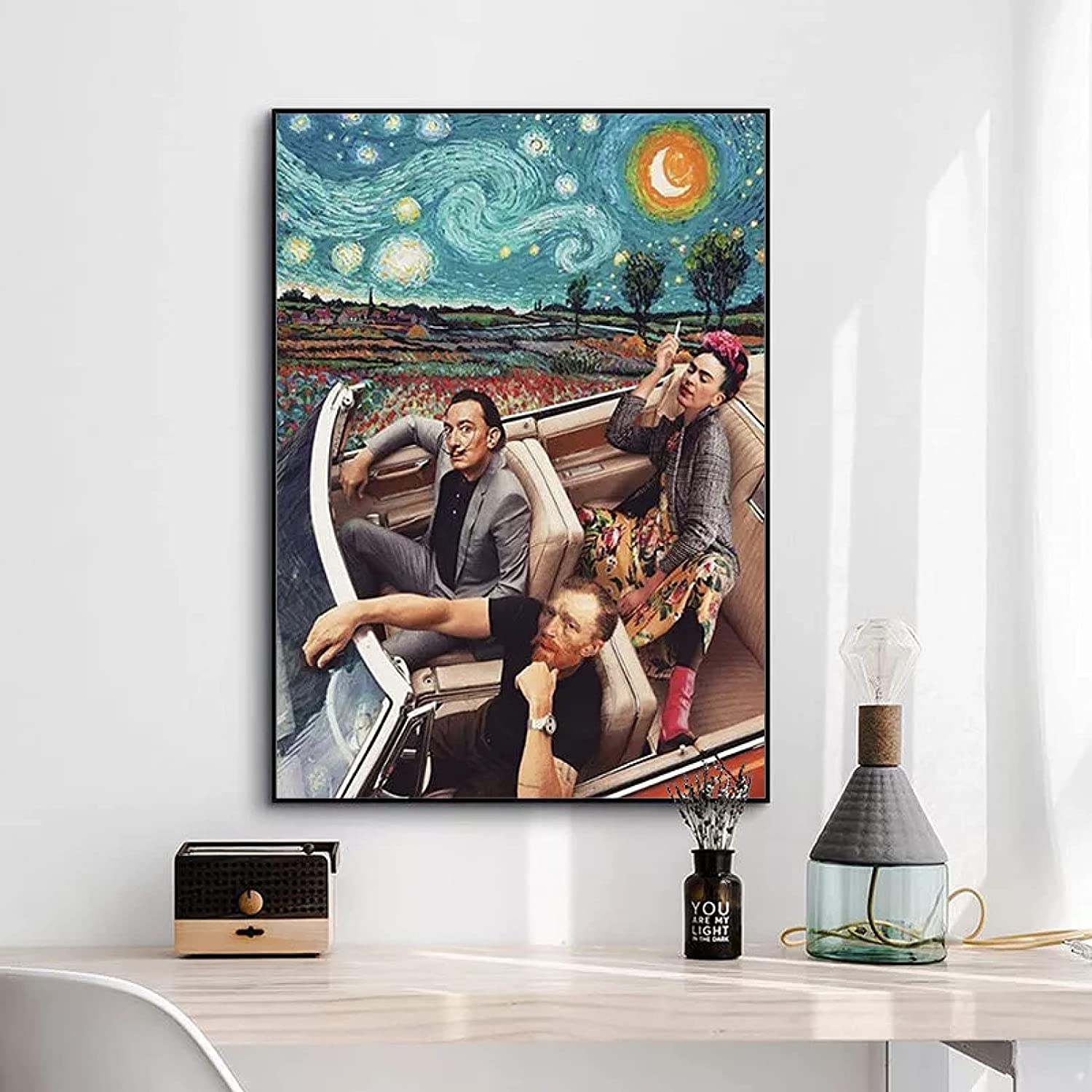 wenbo Canvas Mesa Mall Painting Decorative Manufacturer direct delivery Starry Blue Drivin Art