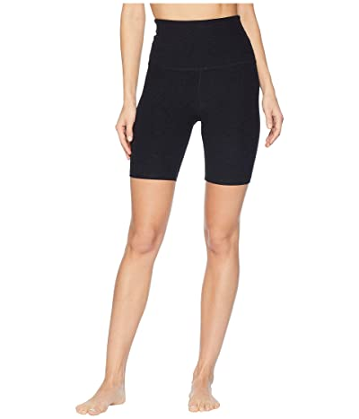 Beyond Yoga Spacedye High-Waisted Biker Shorts (Darkest Night) Women
