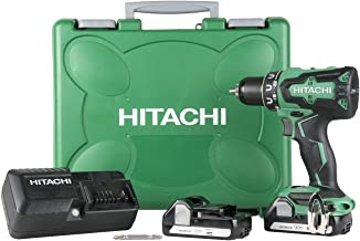 Hitachi DS18DBFL2 18V Cordless Lithium Ion Brushless Driver Drill (Includes Two 1.5Ah Batteries)
