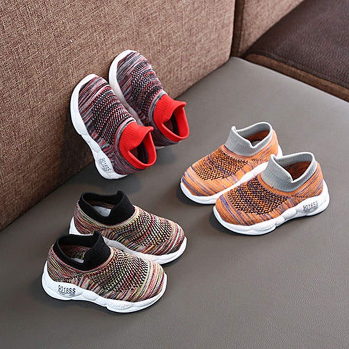 DEBAIJIA Zapatos para ni/ños 0-3T Beb/é Caminar Zapatillas Color S/ólido Suela Suave Malla Antideslizante PVC Material Ligero Transpirable
