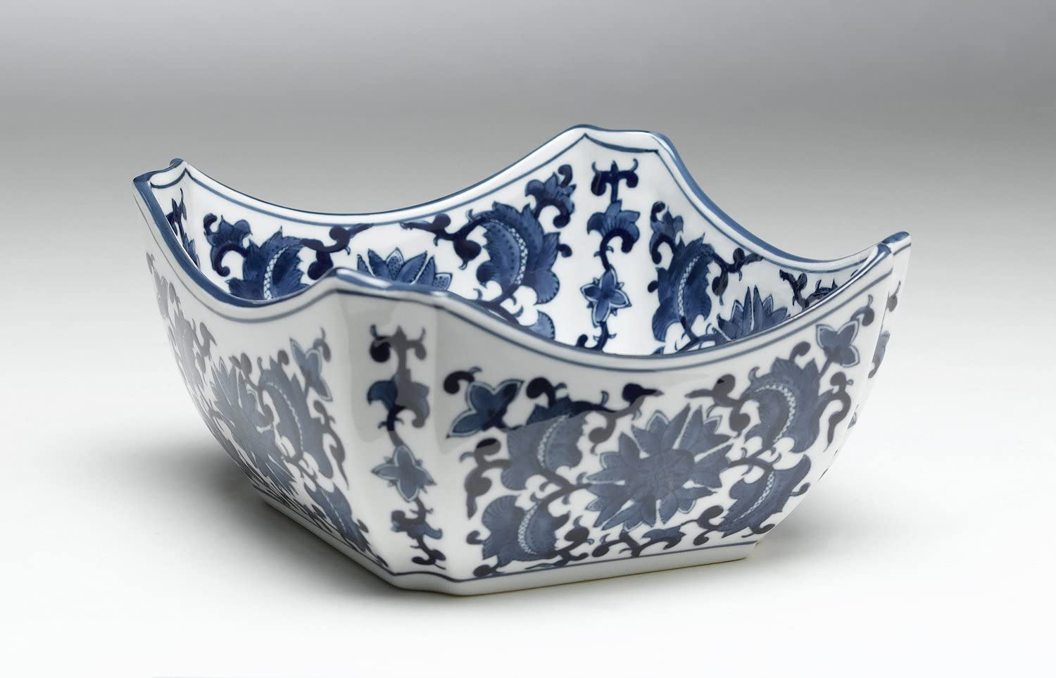 Zeckos AA Importing 59710 Square White New product!! Bowl Blue Japan Maker New and