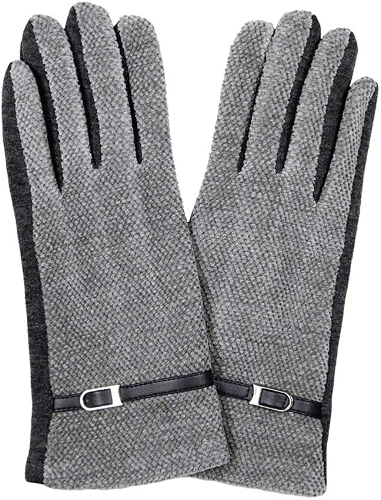 ScarvesMe Textured Smart Touch Glove with Belt