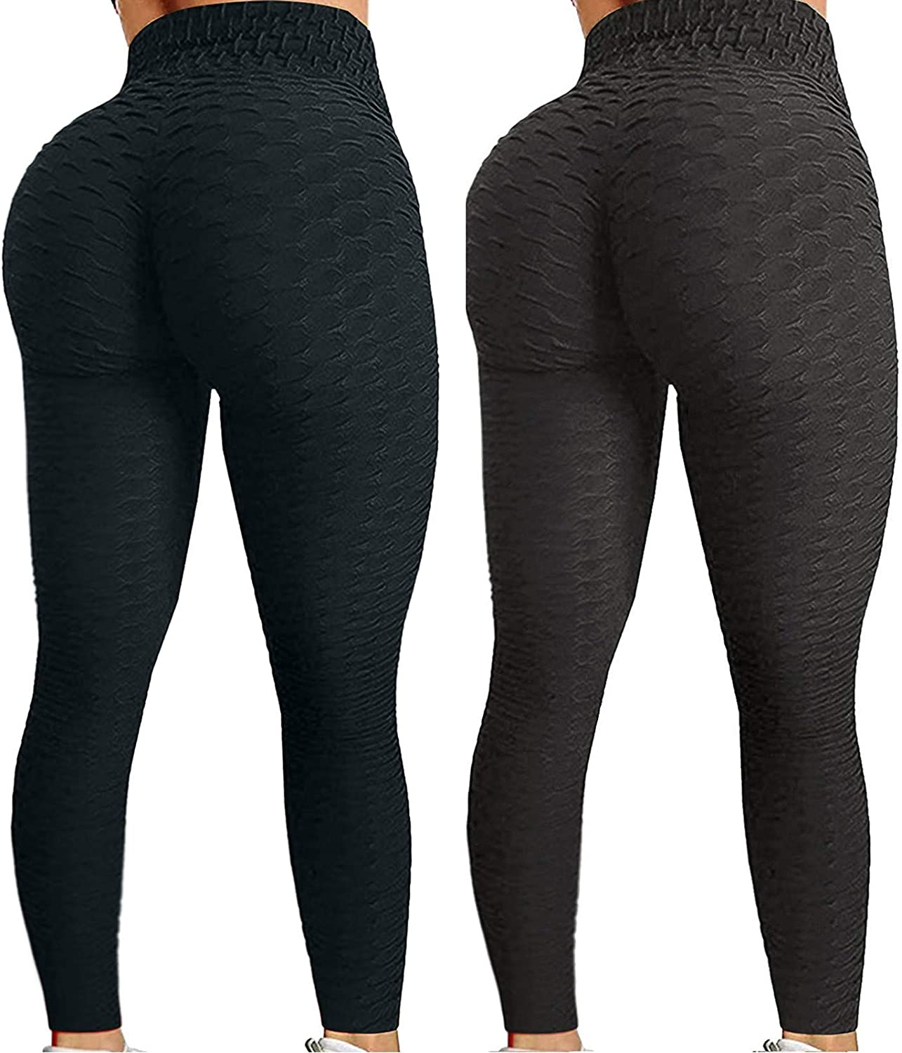 Workout Leggings for Women,Women High Waisted Yoga Pants Butt Lift Ruched Scrunch Legging Tummy Control Booty Tights