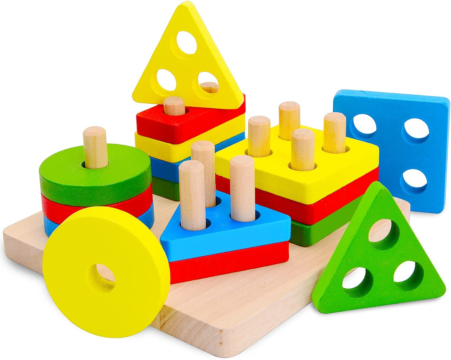 Factory outlet Wooden Sorting Stacking Regular discount Toys Toddlers for Education Preschool