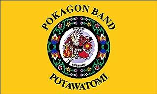GHaynes Distributing POKAGON BAND of POTAWATOMI Tribe Sticker Decal (seal logo flag native) Size: 3 x 5 inch