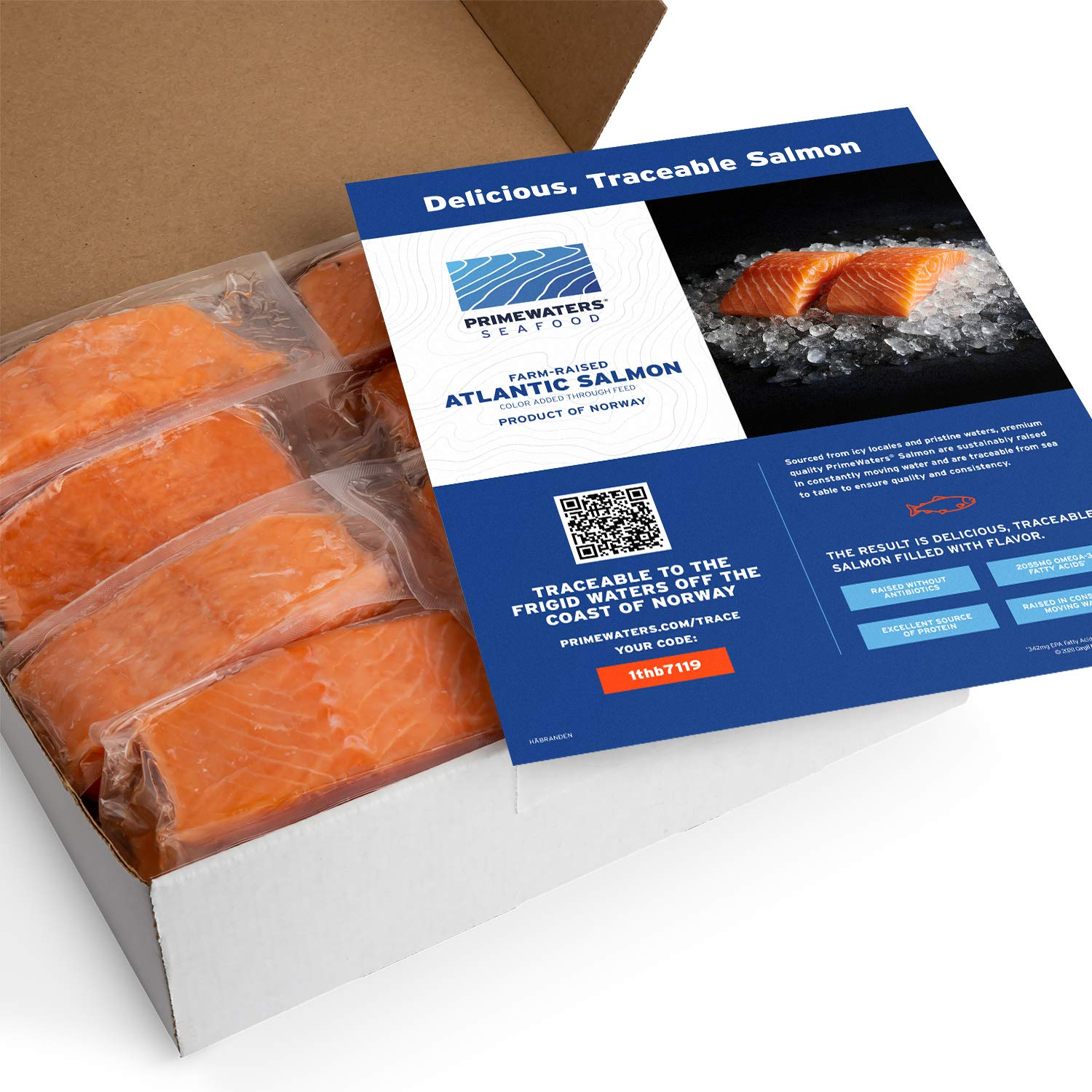 PrimeWaters Atlantic Salmon from Norway 14 ounces mart Max 69% OFF 5 Frozen po