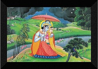 SAF Radhe Krishna modern art UV Textured Synthetic Frame Painting SAFK138