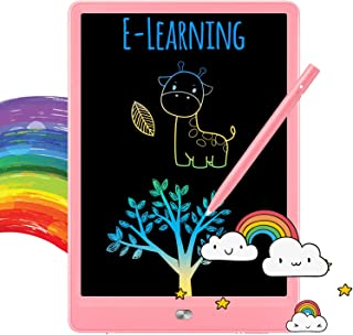 TEKFUN Girls Toys for 3-6 Year Old Girls, LCD Writing Tablet Doodle Board 8.5-inch Colorful Drawing Tablet Writing Pad, 3 4 5 6 Year Old Gifts Toys (Pink)