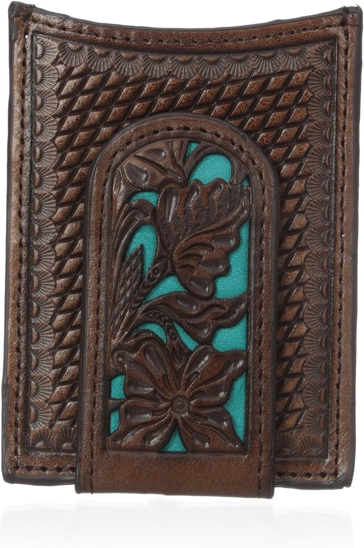 Nocona Men's Blue Floral Inlay Magnet Money