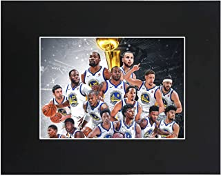 Golden State Warriors 2018 NBA Champions Basketball Team 8x10 with Matted Print Printed Picture Photograph Gift Wall Decor Display USA Seller