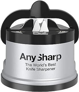 AnySharp Afilador de Cuchillos con Ventosa, Plata