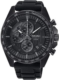SEIKO Men's Quartz Watch, Analog Display and Leather Strap SSB327P1
