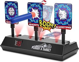 Electric Digital Scoring Target for Nerf Guns, Auto-Reset Intelligent Light Sound Effect Shooting Target for Nerf N-Strike...