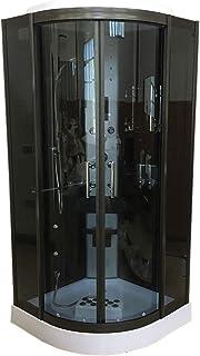 comprar comparacion DUCHA CABINA DE HIDROMASAJE Modelo Vancouver 100 x 100 cm NUEVA SPA RADIO CROMOTERAPIA