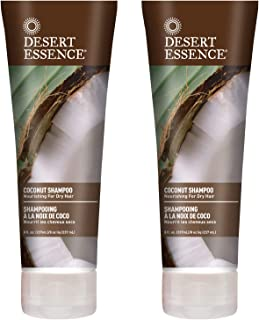 Desert Essence Coconut Shampoo - 8 Fl Ounce - Pack of 2 - Intense Moisturization - Healthy Hair - Restores Natural Luster ...
