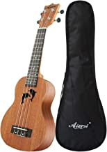 Aiersi handmade solid top mahogany concert ukuleles for sale natural color 24 inch DIY Dolphin hawaiian ukelele set with r...
