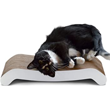 PetFusion Cat Scratching FLIP PAD - 2 Designs in one. [Superior Cardboard & Construction, Significantly outlasts Cheaper alternatives]