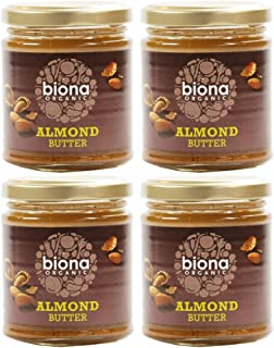 (4 PACK) - Biona - Organic Almond Butter   170g   4 PACK BUNDLE