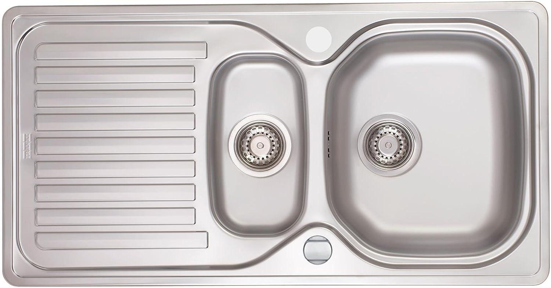 Franke Elba ELN 651-101.0259.897 Edelstahlspüle glatt Küchenspüle Einbauspüle Exzenterbettigung