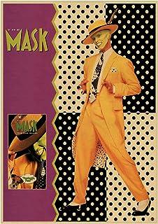 ZNNHEROジム・キャリーマスク映画ポスター印刷壁アートキャンバス絵画用リビングルームバーカフェ家の装飾-50X70Cmx1フレームなし
