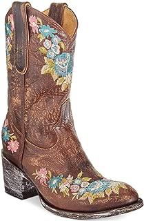 Old Gringo Womens Lynn Almond Toe Mid-Calf Cowboy Boots