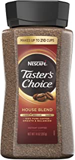 Nescafe Taster's Choice Signature House Blend Instant Coffee Classic Taste | 14 Ounce Value Size | Premium Freshness In Your Morning Cup