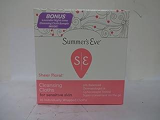 Summer's Eve 敏感肌用クレンジングイブ布、シアーフローラル16 Eaは(7パック) 7のパック