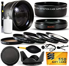 10 Piece Ultimate Lens Package For the Fuji Finepix S7000 Digital Camera Includes .43x High Definition II Wide Angle Panoramic Macro Fisheye Lens + 2.2x Extreme High Definition AF Telephoto Lens + Professional 5 Piece Filter Kit (UV, CPL, FL, ND4 and 10x Macro Lens) + Tube Adapter+ Flower Lens Hood + Deluxe Lens Cleaning Kit + LCD Screen Protectors + Mini Tripod + 47stphoto Microfiber Cloth Photo Print !