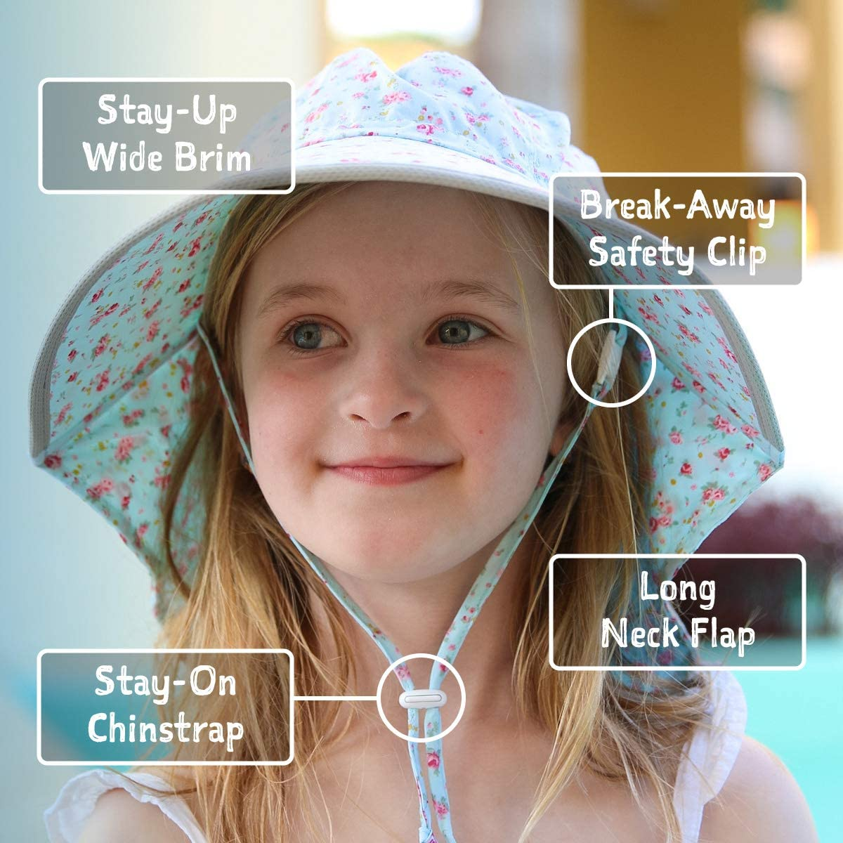 JAN /& JUL GRO-with-Me Cotton Adventure Hat 50 UPF Adjustable Toddler Sun Hat for Baby and Kids